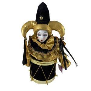 10x6 gold porcelain decor jester